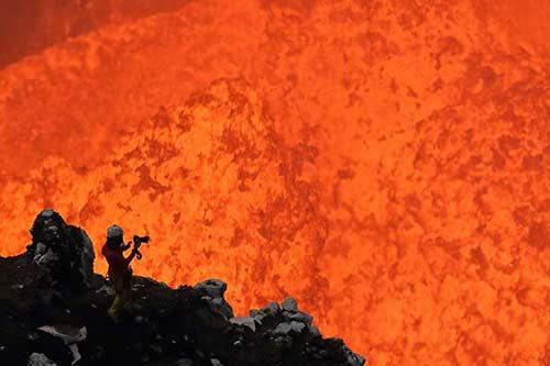 Extrem Shooting am Vulkan